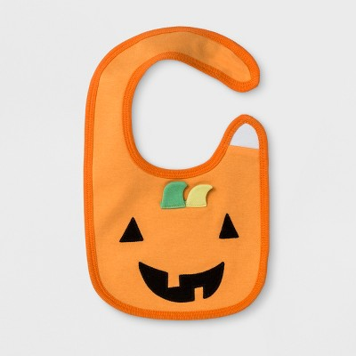 Baby's Pumpkin Bib - Cloud Island™ Orange