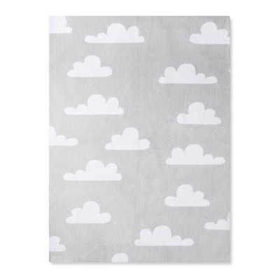 Micro Polyester Rug Clouds (4'x5'5 )- Cloud Island™ - Gray