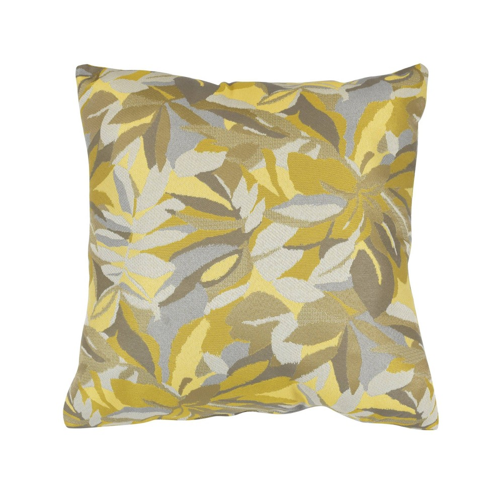 "Image of ""Pacifica Lounge Throw Pillow Dewey Yellow - Astella, Size: 24""""x24"""""""