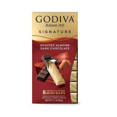 Godiva Roasted Almond Dark Bar - 3.1oz