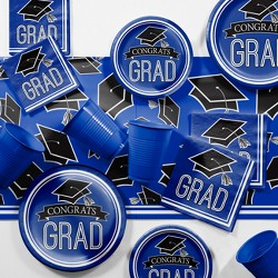 Blue Graduation School Party Supplies Kit