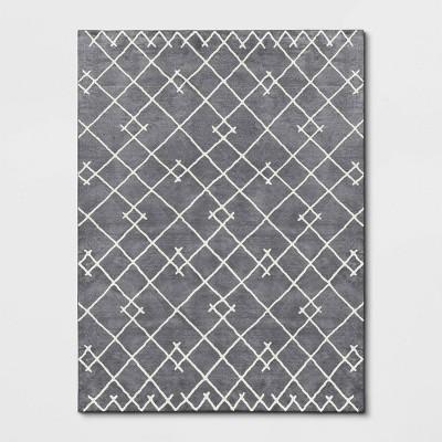 9'x12' Kenya Fleece Rug Gray/Cream - Project 62™