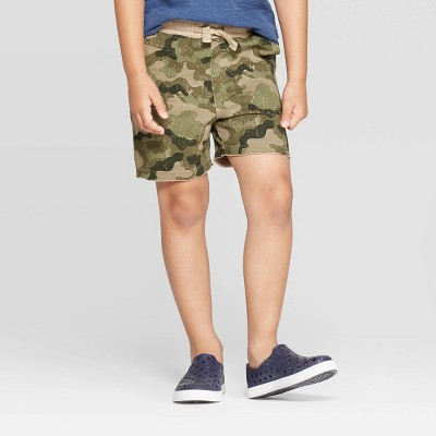 Toddler Boys' Camouflage Pull-On Shorts - art class™ Green 2T