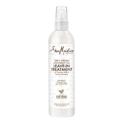 SheaMoisture Leave-in Conditioner Treatment for All Hair Types 100% Extra Virgin Coconut Oil - 8 fl oz