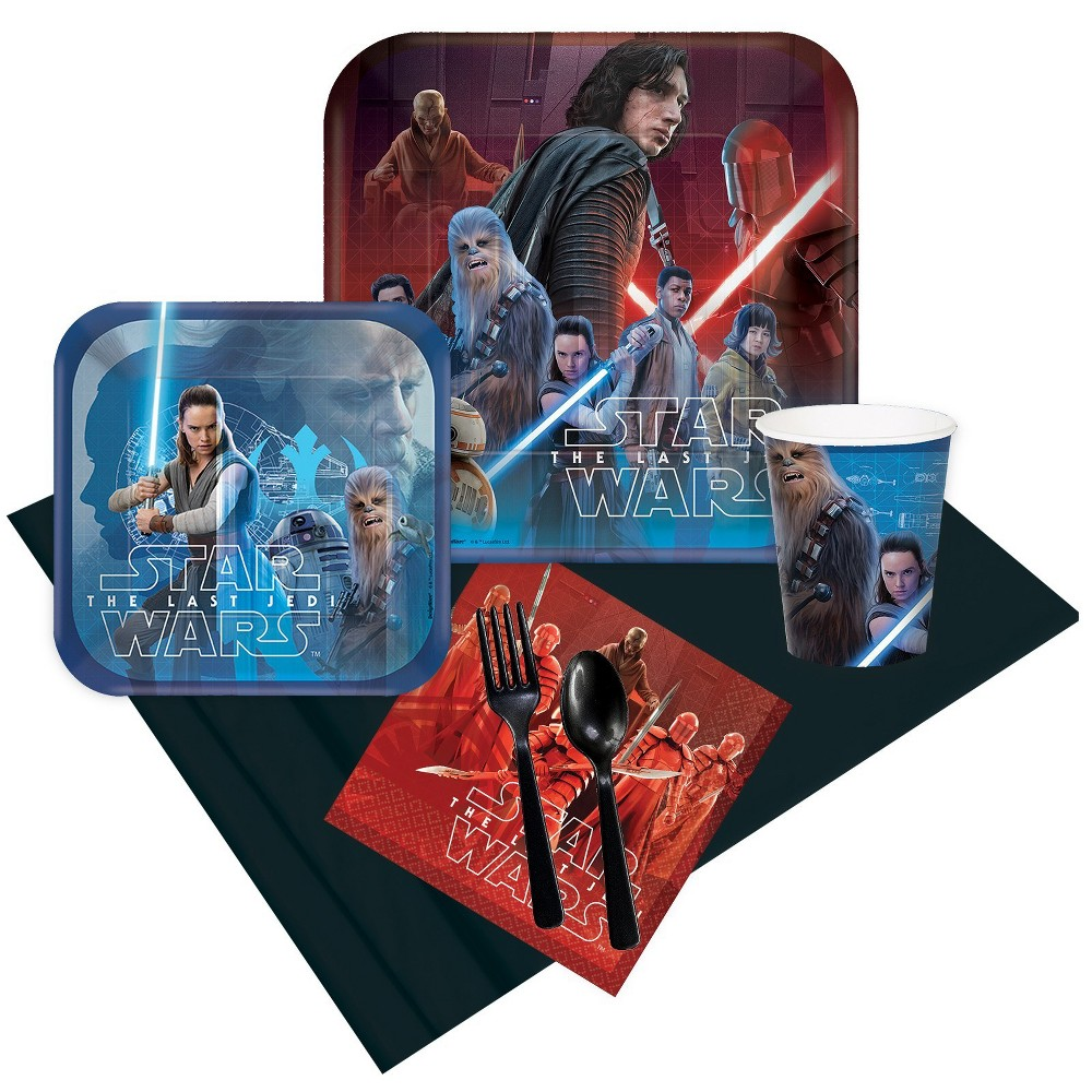 24 Guest Party Pack BuySeasons Star Wars: The Last Jedi, Multicolored