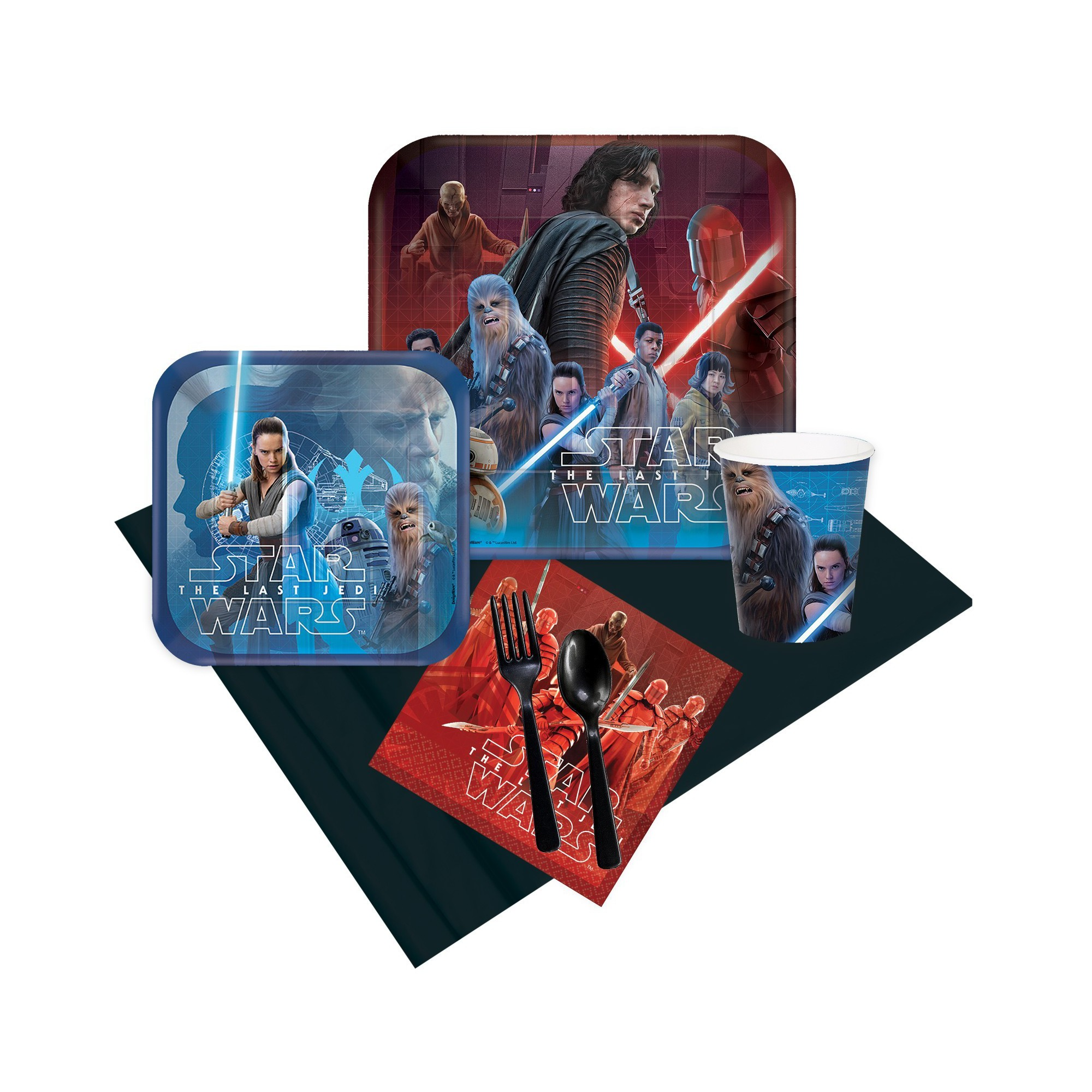 16 Guest Party Pack BuySeasons Star Wars: The Last Jedi, Multicolored