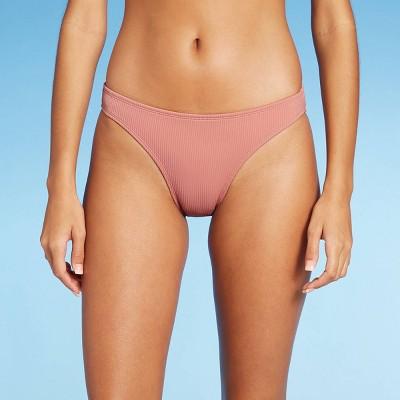 Juniors' Ribbed Cheeky Bikini Bottom - Xhilaration™ Mauve
