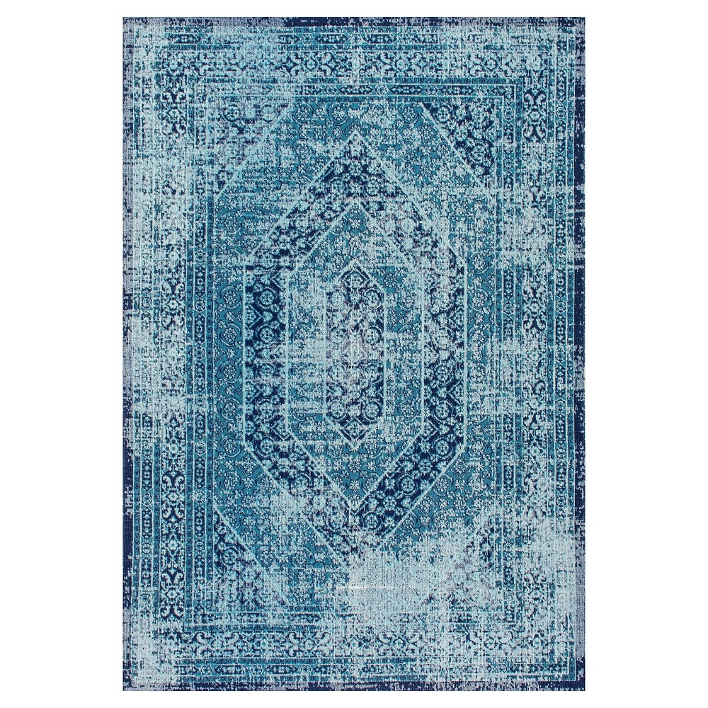 Blue Solid Loomed Area Rug - (8'x10') - nuLOOM