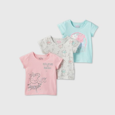 Toddler Girls' 3pk Peppa Pig T-Shirt