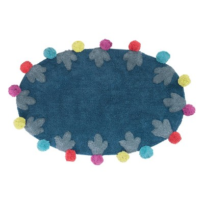 Llamas Bath Rug Blue - Allure Home Creations