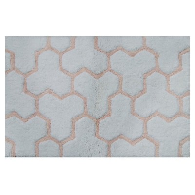 Sculpted Wave Bath Rug Gray/Casual Pink - Project 62™