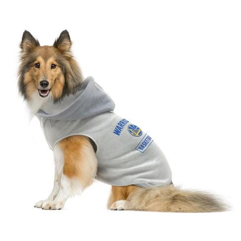 best website d8ead 7e04a Golden State Warriors Pet Hooded Crewneck Sweater L