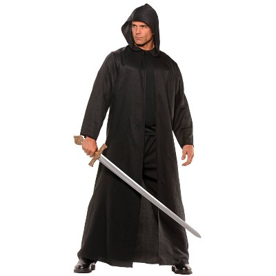 Adult Faux Leather Cloak Halloween Costume One Size