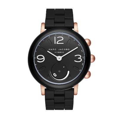 Marc Jacobs Hybrid 42mm Smartwatch - Black Silicone/Rose Gold