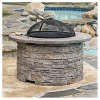 """Channing 36.25 """" Wood Burning Patio Fire Pit - Round - Natural Stone - Christopher Knight Home - image 2 of 4"""