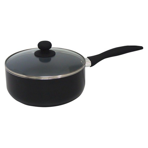 Gourmet Chef 4 Fl Qt Eco Friendly Non Stick Ceramic Sauce Pan - Black - image 1 of 1