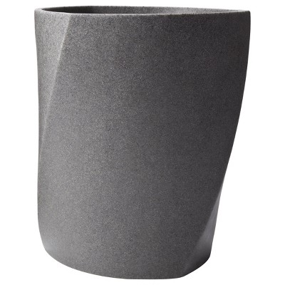 Geo Stone Wastebasket Gray - Allure Home