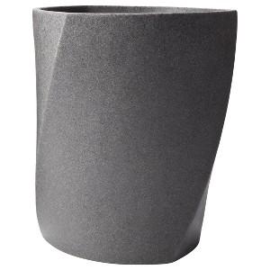 Geo Stone Wastebasket Gray - Allure Home