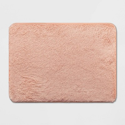 23 x17  Lurex Memory Foam Bath Rug Feather Pink - Room Essentials™