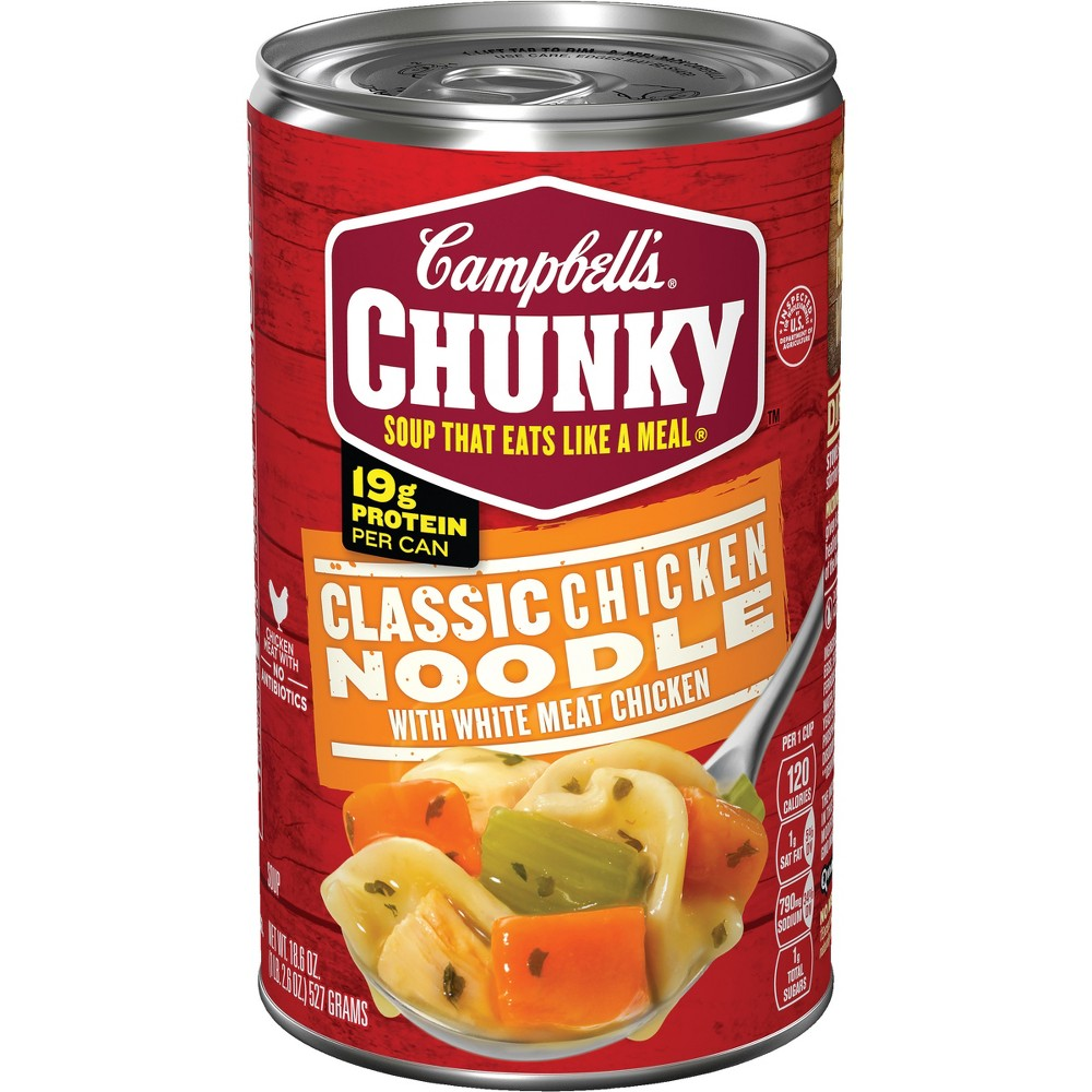 Campbell's Chunky Classic Chicken Noodle Soup 18.6 oz