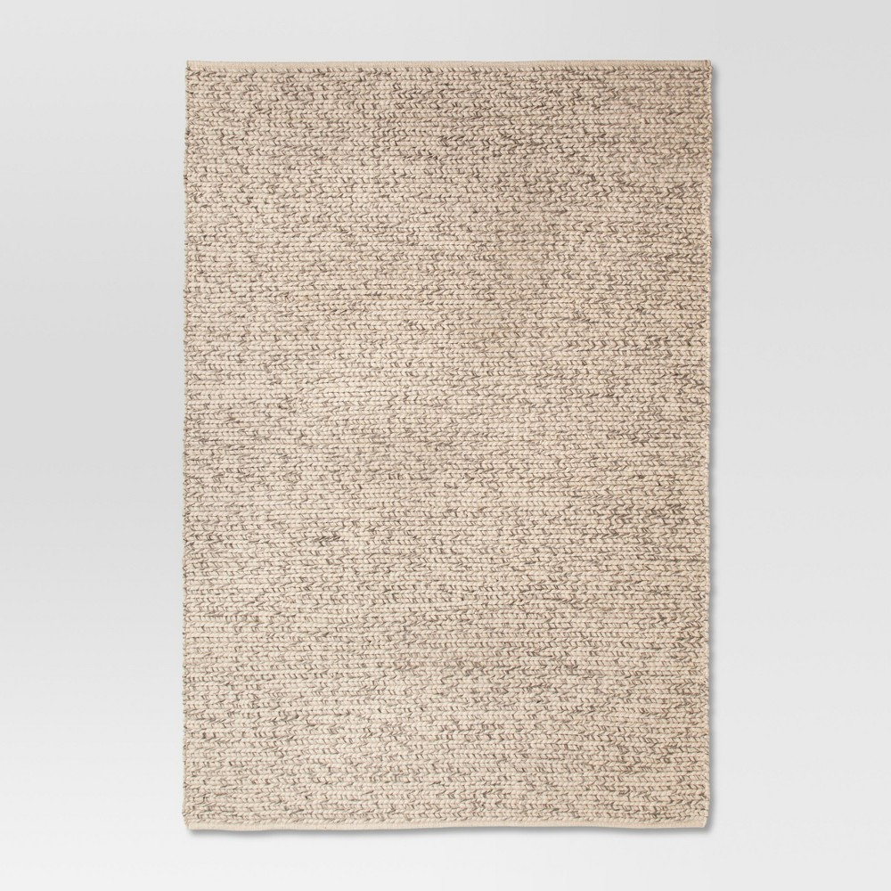 Ivory Chunky Braided Wool Rug 7'x10' - Project 62