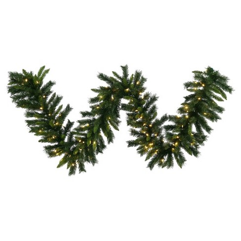 "9' x 14"" Christmas Pre-Lit LED Imperial Pine Artificial Garland with Warm White Lights - image 1 of 1"