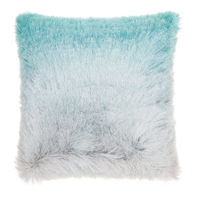 """20""""x20"""" Oversize Illusion Shag Ombre Square Throw Pillow - Mina Victory"""