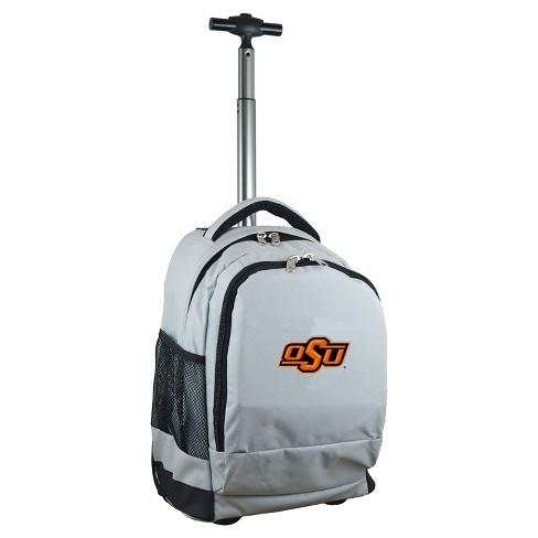 NCAA Oklahoma State Cowboys Gray Premium Wheeled Backpack - image 1 of 6