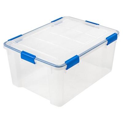 IRIS 60qt Weather Tight Storage Box Clear