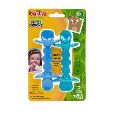 Nuby 2pk Dipeez Spoon - Blue/Aqua