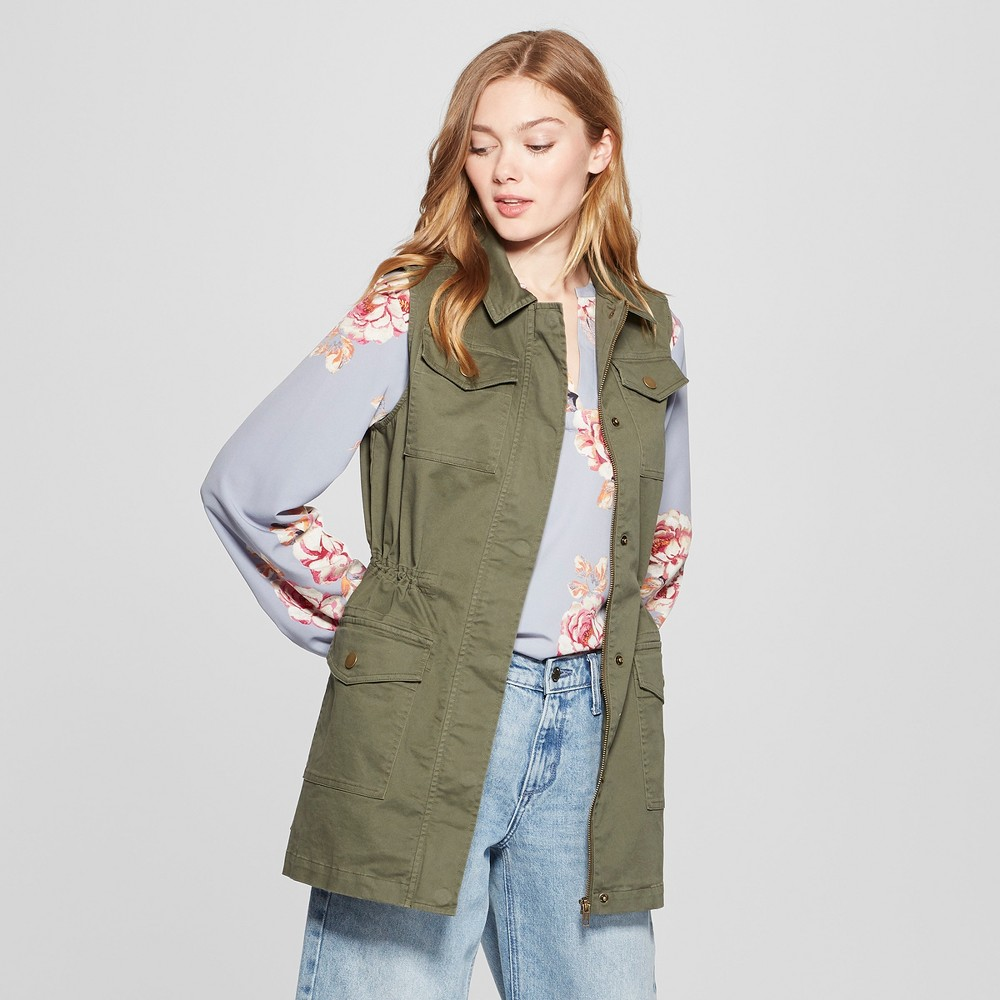 Women's Military Vest - A New Day Olive (Green) S