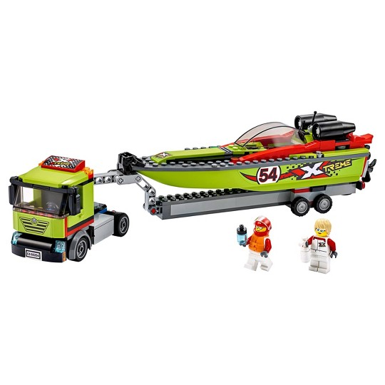 LEGO City Race Boat Transporter Race Boat Toy 60254 image number null