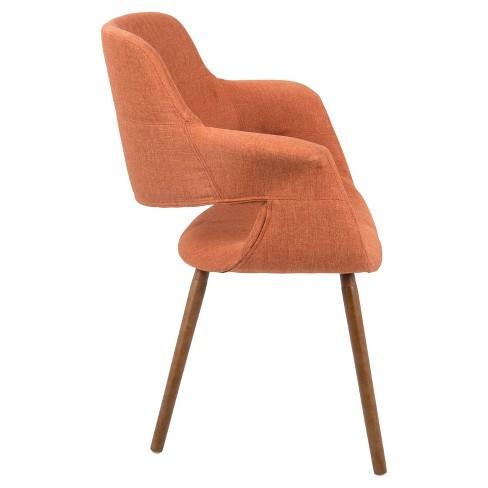 Vintage Flair Mid Century Modern Dining Accent Chair Orange Lumisource Target