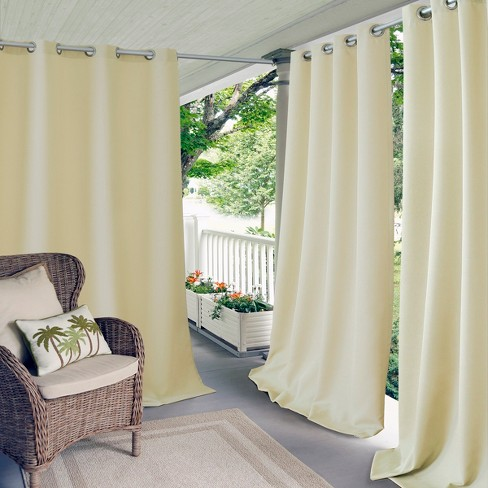 Connor Solid Indoor/Outdoor Window Curtain Panel - Elrene Home Fashions - image 1 of 4