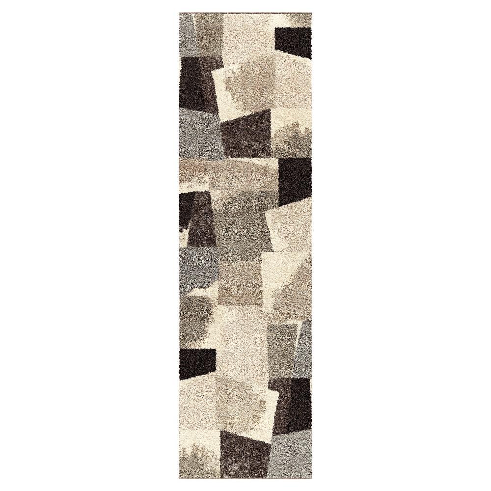 Beige Abstract Woven Runner - (2'3x8') - Orian