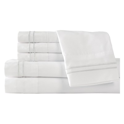 Microfiber Double Marrow Sheet Sets (Queen)White - Elite Home Products