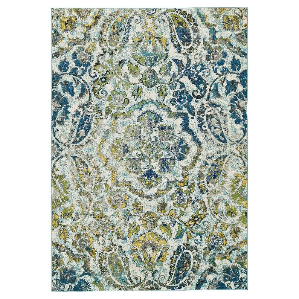10'X13'2 Medallion Woven Area Rugs Azure - Room Envy, Blue