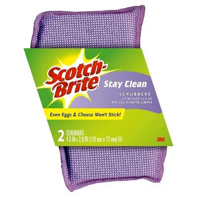 Scotch-Brite Stay Clean Scrubbers - 2 Pack