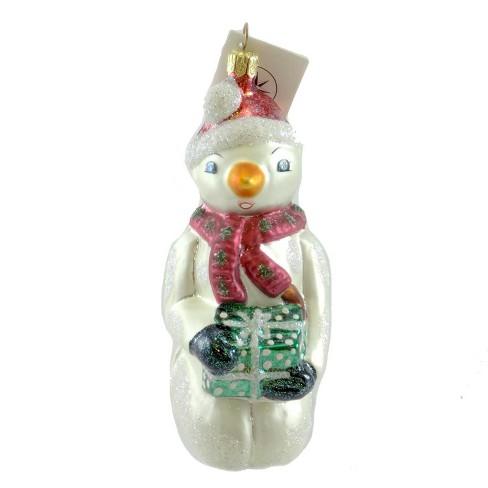 Christopher Radko A Cool Surprise Ornament Snowman Present - image 1 of 2
