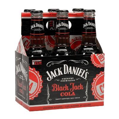 Jack Daniel's BlackJack Cola Country Cocktails - 6pk/10 fl oz Bottles