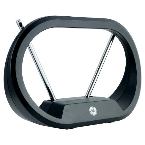 GE TV Antenna, Modern Loop, Indoor Passive Antenna - Black - image 1 of 3