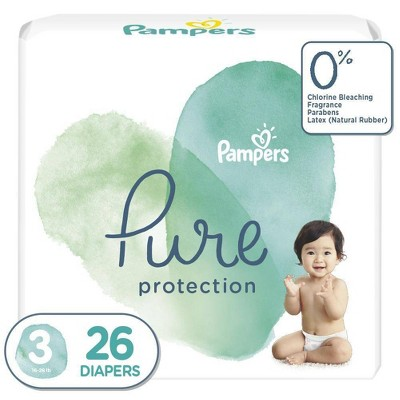 Pampers Pure Protection Diapers Jumbo Pack - Size 3 - 26ct