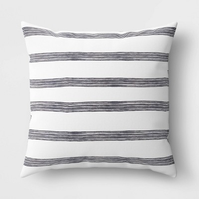 Stripe Throw Pillow Black/White - Room Essentials™