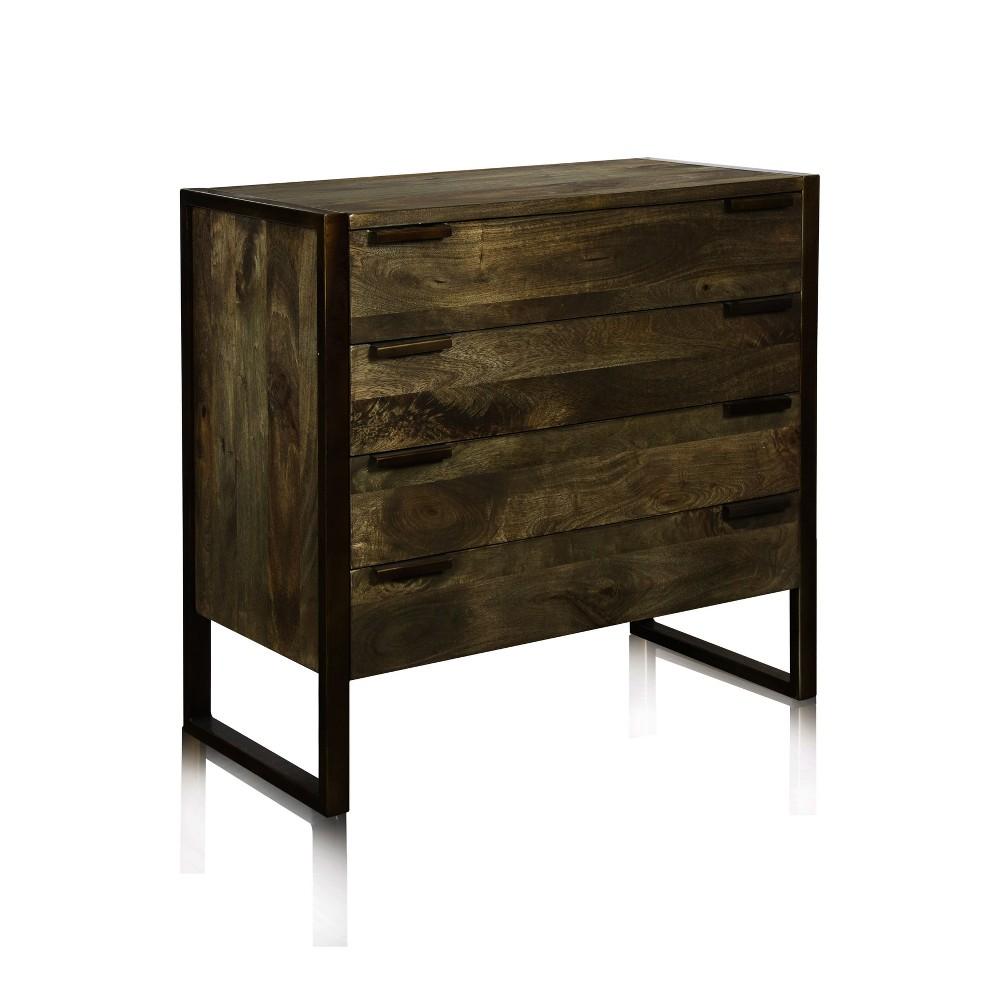 Contemporary Rustic Dresser In Mango Wood Green Olive - Stylecraft