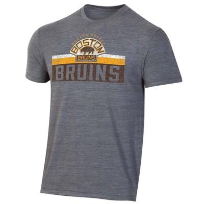 NHL Boston Bruins Men's Short Sleeve Vintage Logo T-Shirt - XL