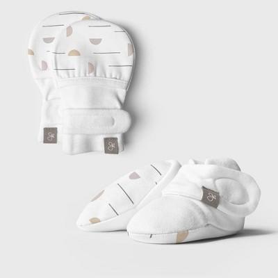 Goumi Baby Organic Cotton Geo Dash Mittens and Boots - 0-3M