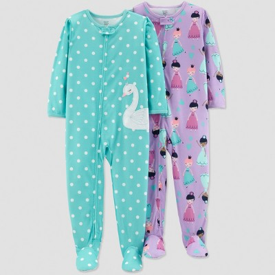 Baby Girls' Princess Pajama Set - Just One You® made by carter's Turquoise 12M