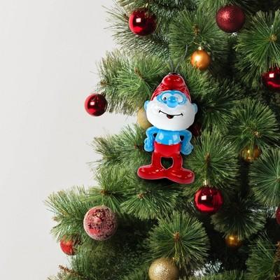 Papa Smurf Decoupage Christmas Tree Ornament