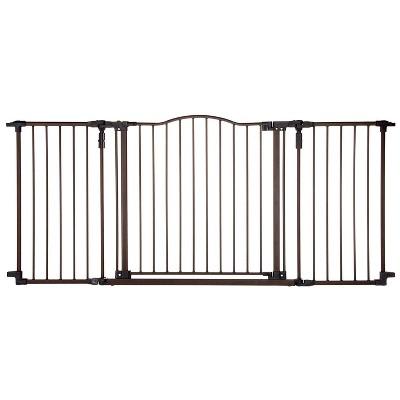MyPet Extra Wide Windsor Arch Indoor Pet Gate, Bronze