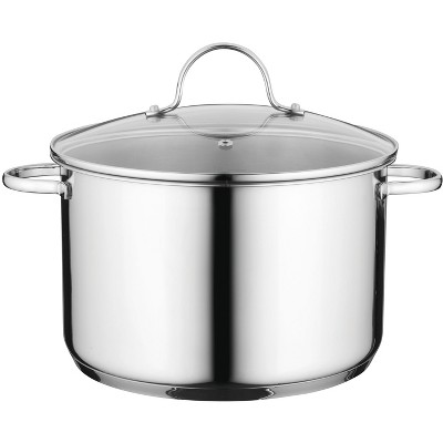 "BergHOFF Comfort 10"" 18/10 Stainless Steel Covered Stockpot"